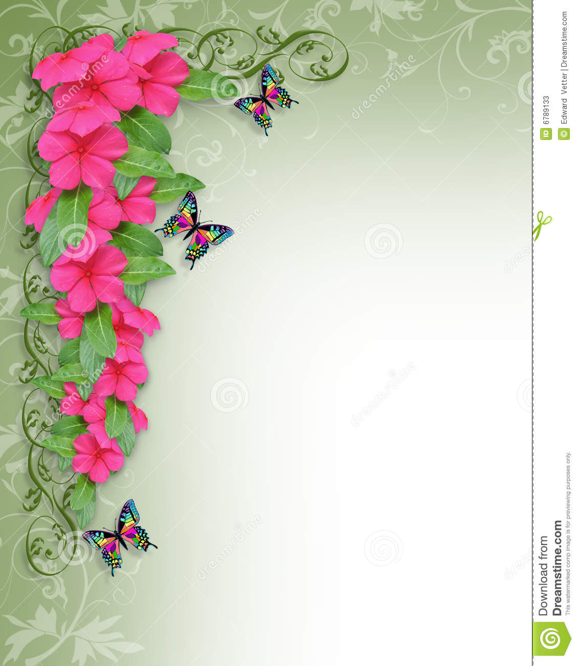 Пин от пользователя katherine pauletta на доске Invitation ... |Flower Border Designs For Wedding Cards