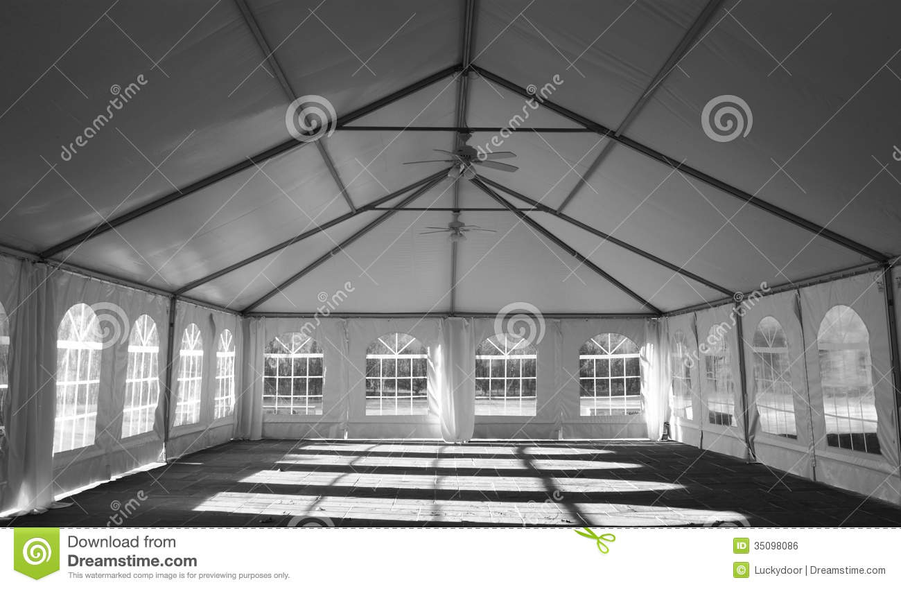 Wedding Party Tent Interior Royalty Free Stock Image