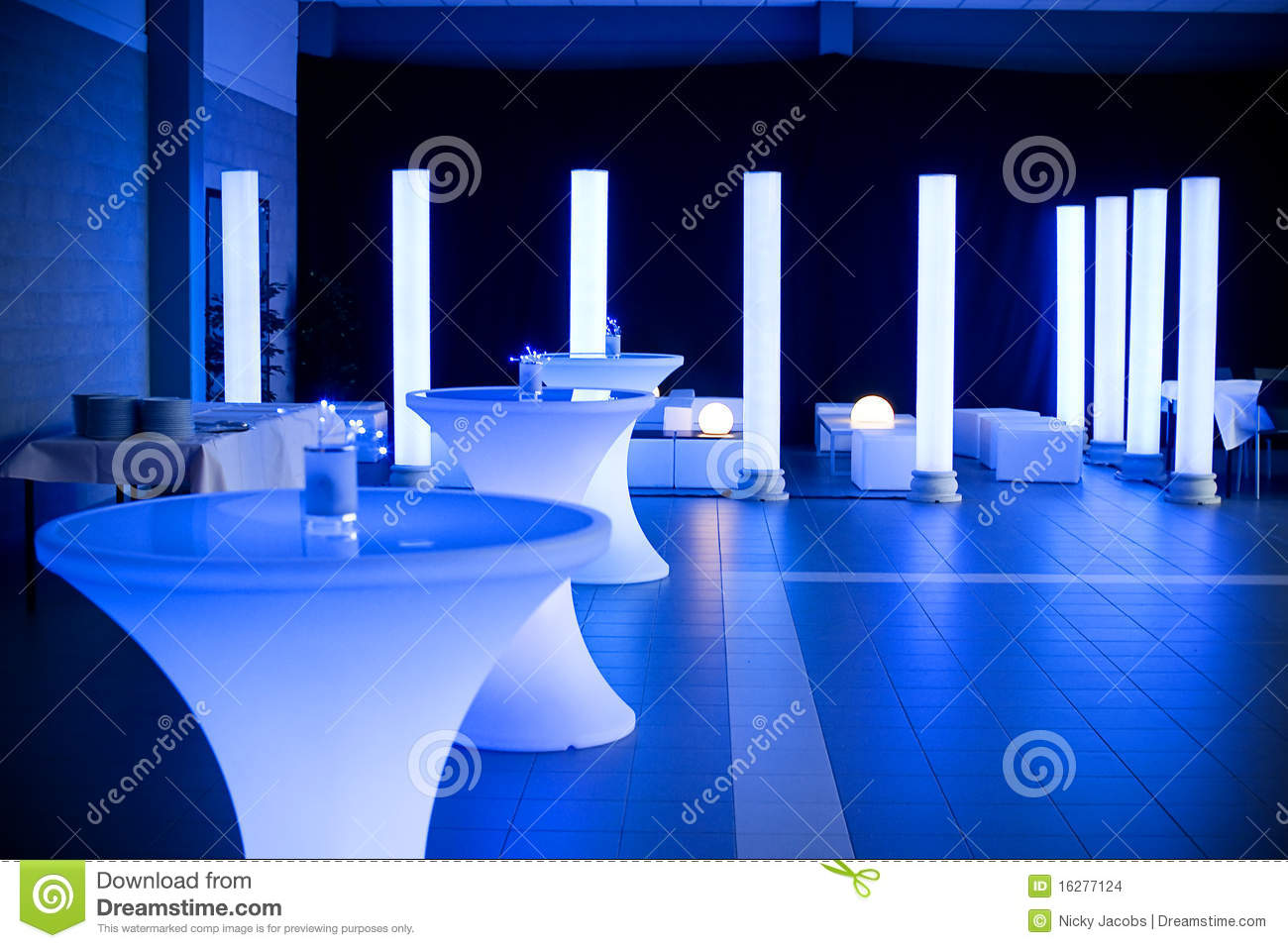 Wedding Party Venue Stock Photo Image Of White Color