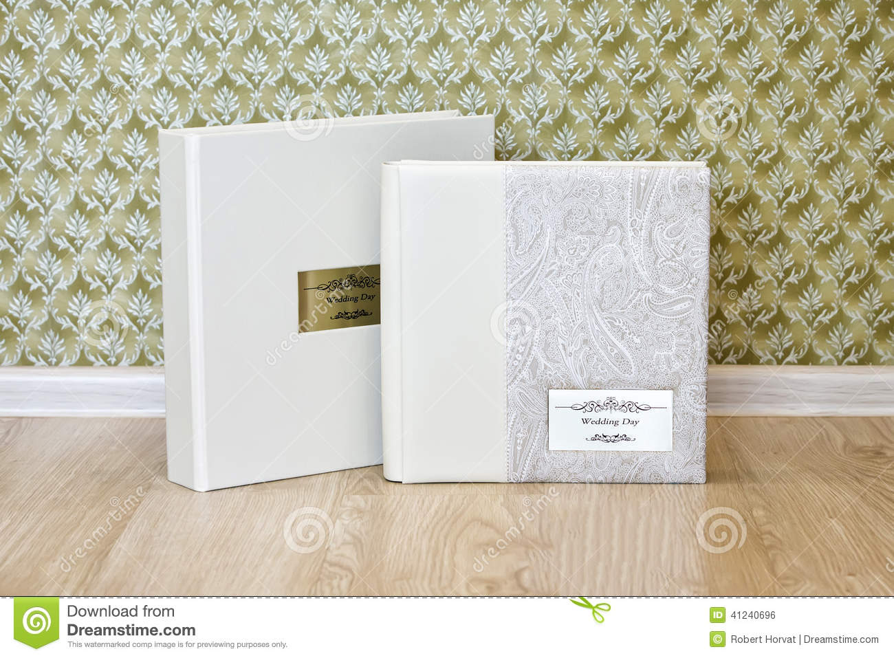 Wedding Book Cover Ideas : Wedding photo book with leather combined cover and metal