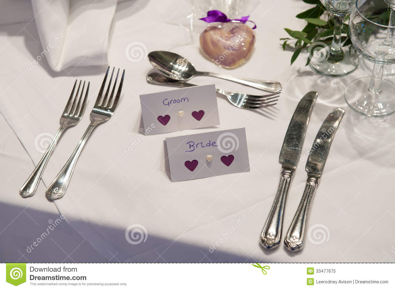 Bride Groom Place Setting Table ... Part 51
