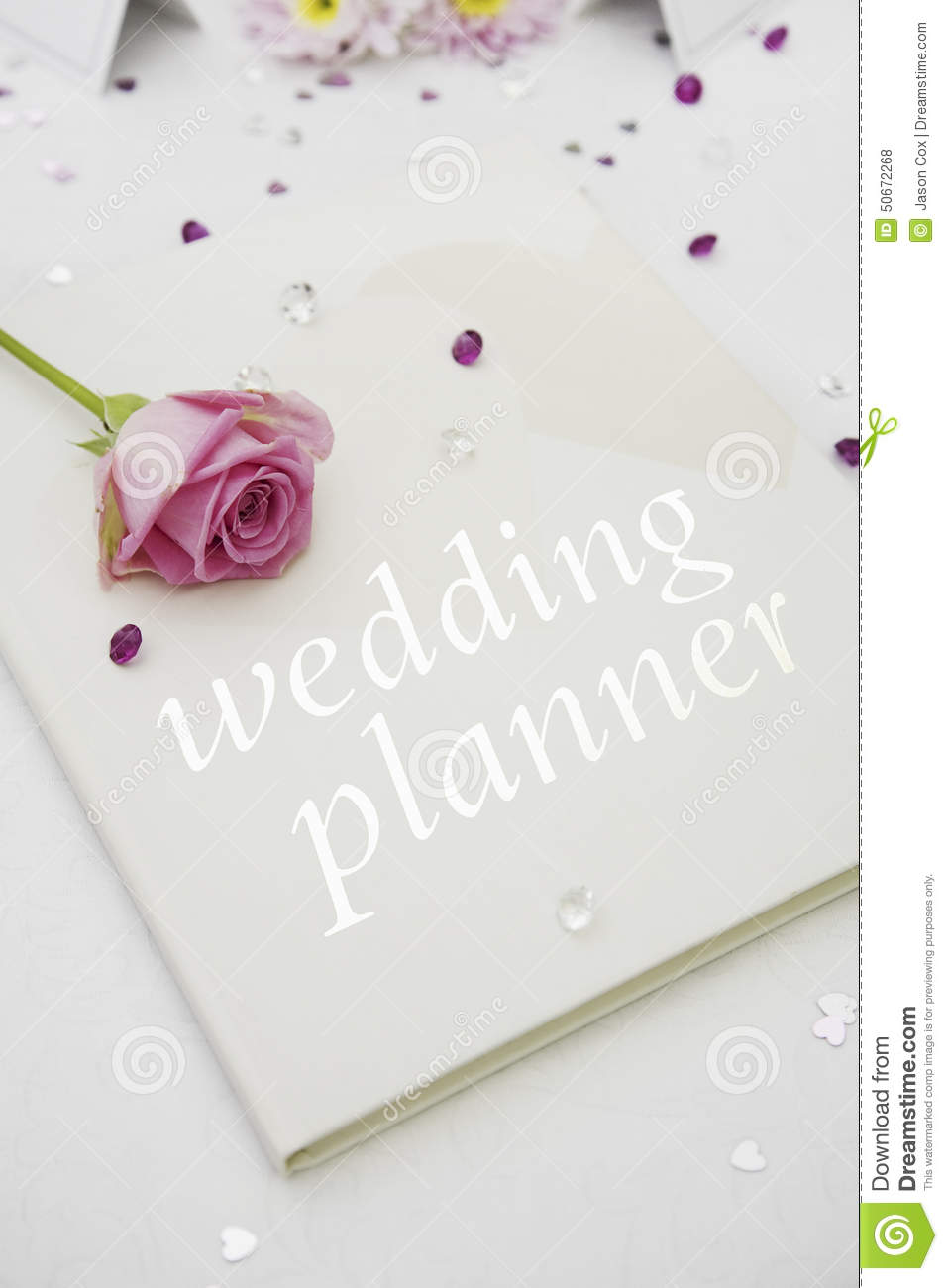 wedding planner book stock photo image of tablecloth 50672268