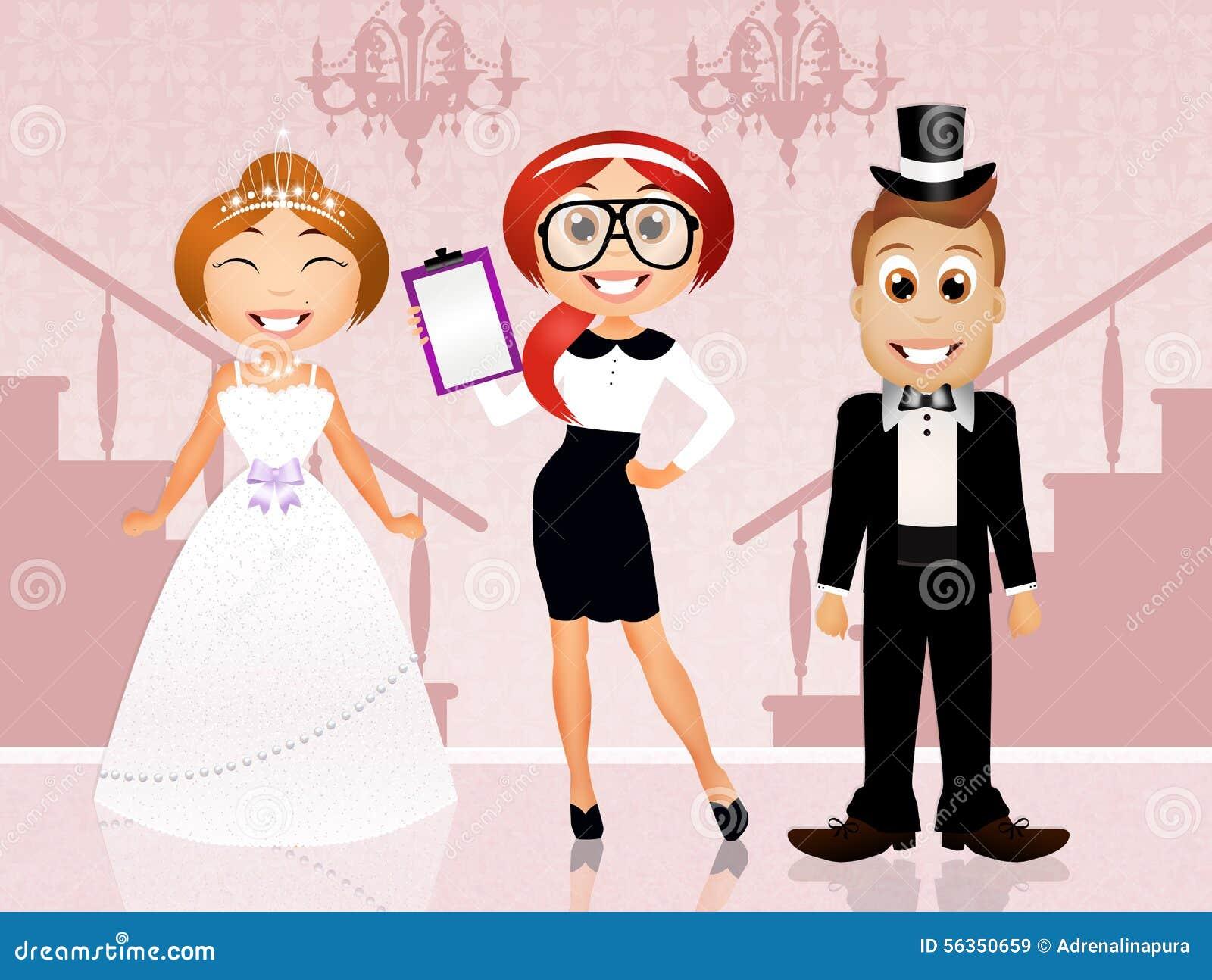 Awesome Wedding Planner Com Wedding Planner Stock Illustration ...