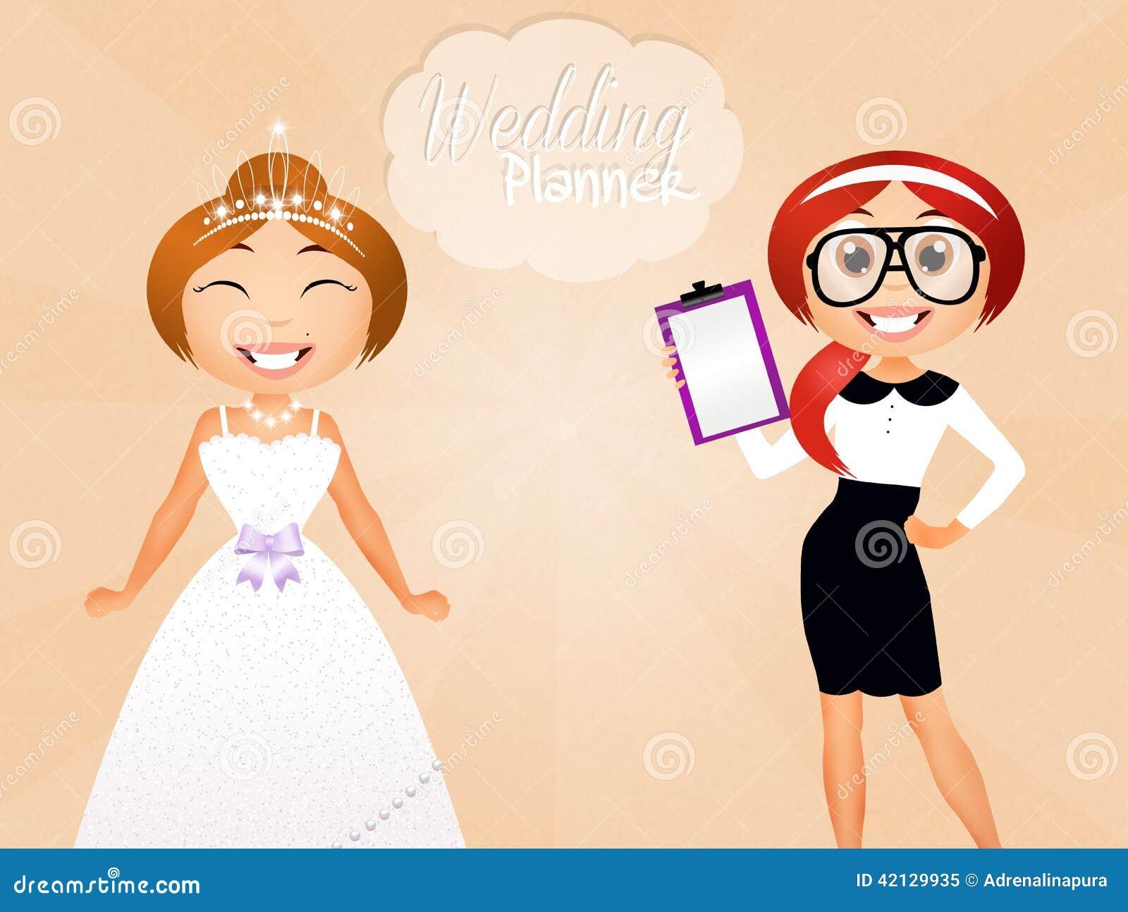 Wedding planner stock illustration Illustration of celebration