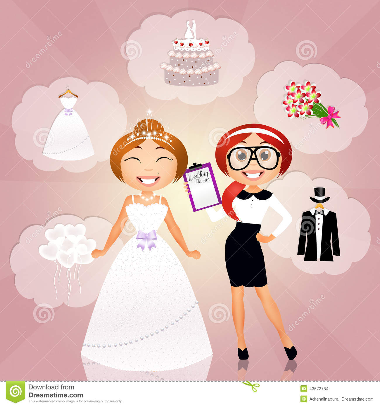 Wedding planner stock illustration illustration of smile 43672784 download comp junglespirit Images