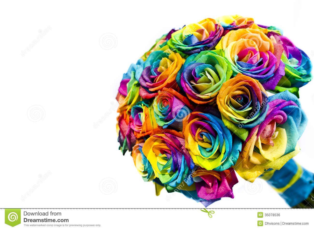 Wedding Bouquets With Rainbow Roses : Wedding rainbow roses bouquet royalty free stock image