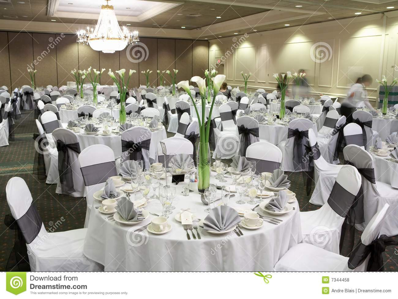 Wedding Reception Area Stock Photo Image Of Dish Decor