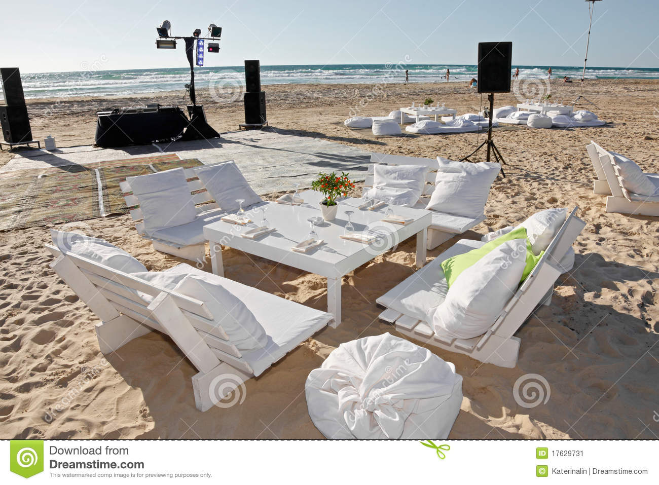 Wedding Reception On The Beach Outdoor