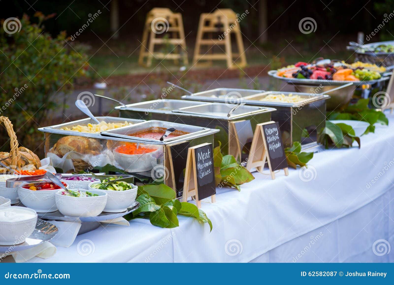 Wedding Reception Buffet Dinner Stock Image Image Of Wedding