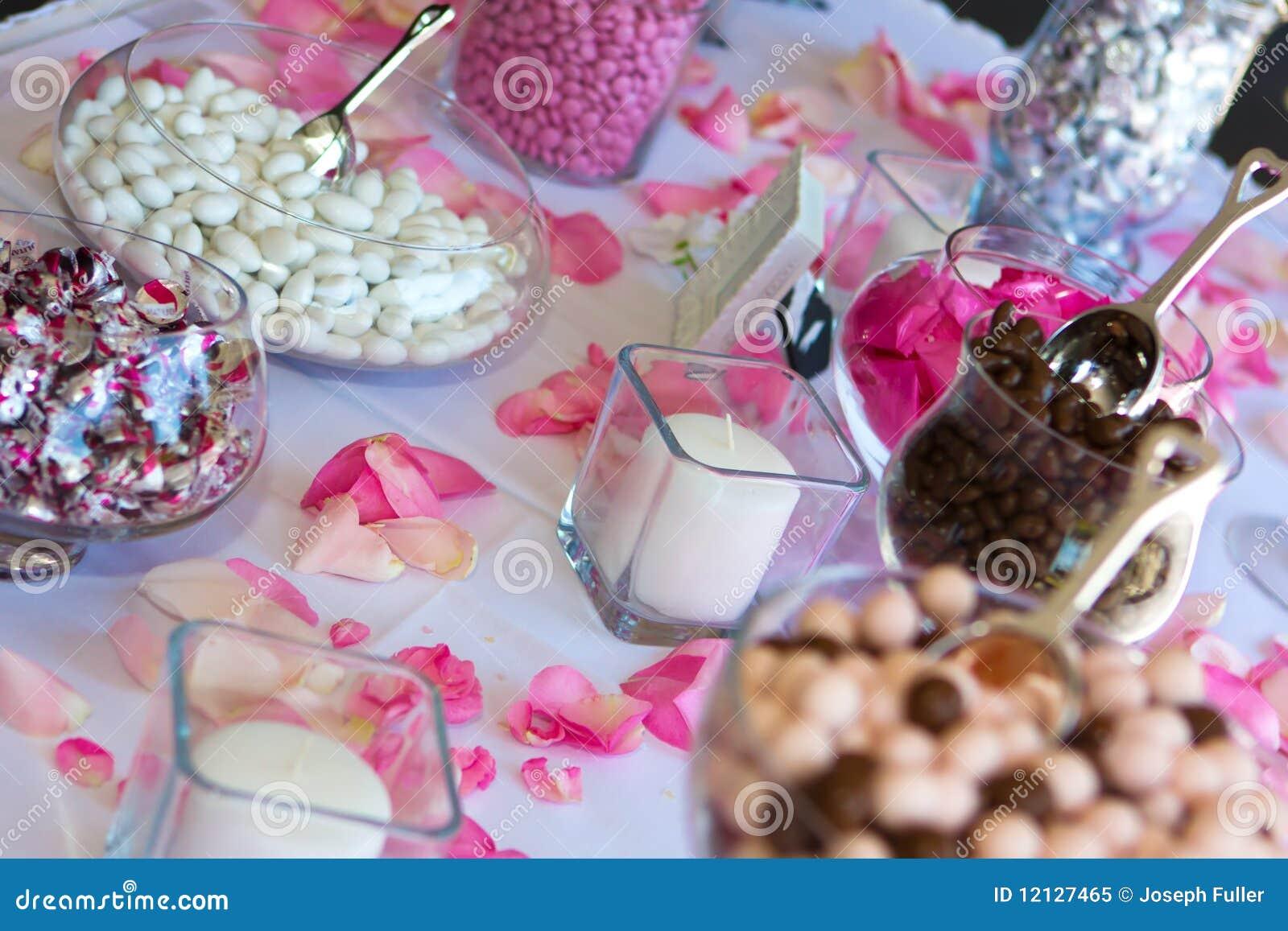Wedding Reception Candy Table Stock Image Image Of Celebration
