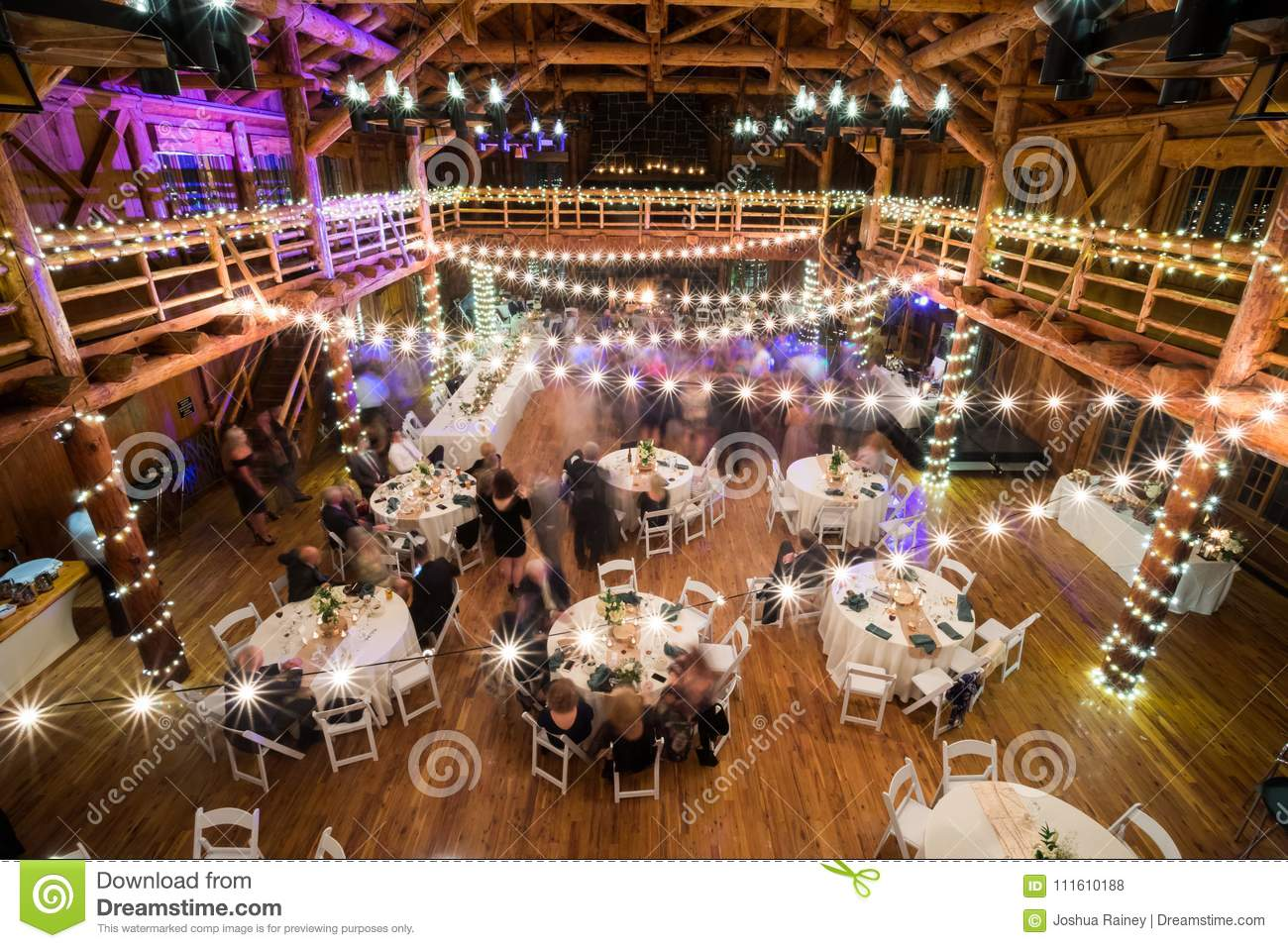 Wedding Reception Dancing Long Exposure Stock Photo Image Of