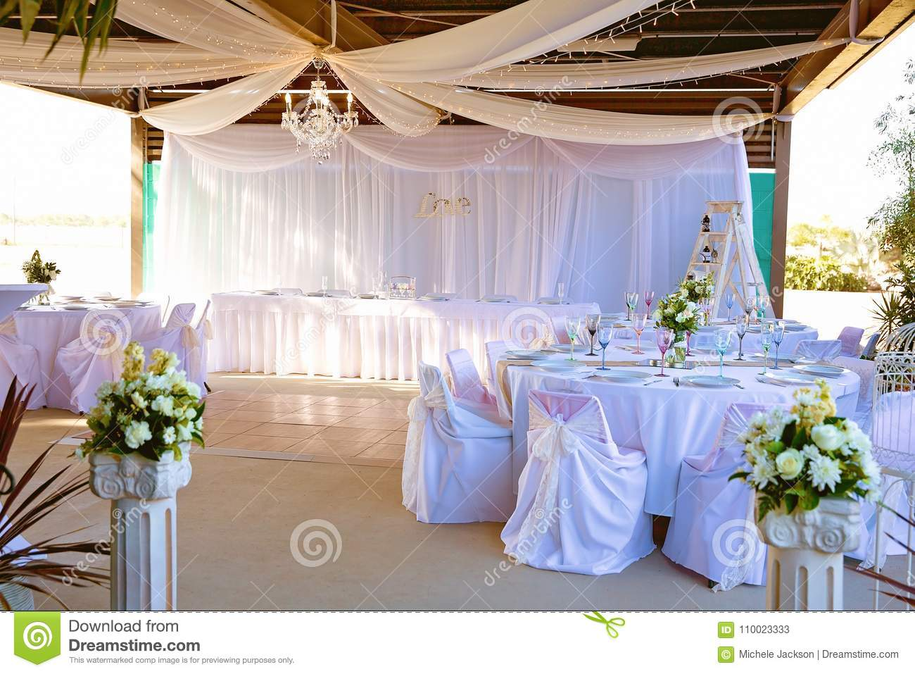Wedding Reception Decor And Set Up Stock Image Image Of Convention