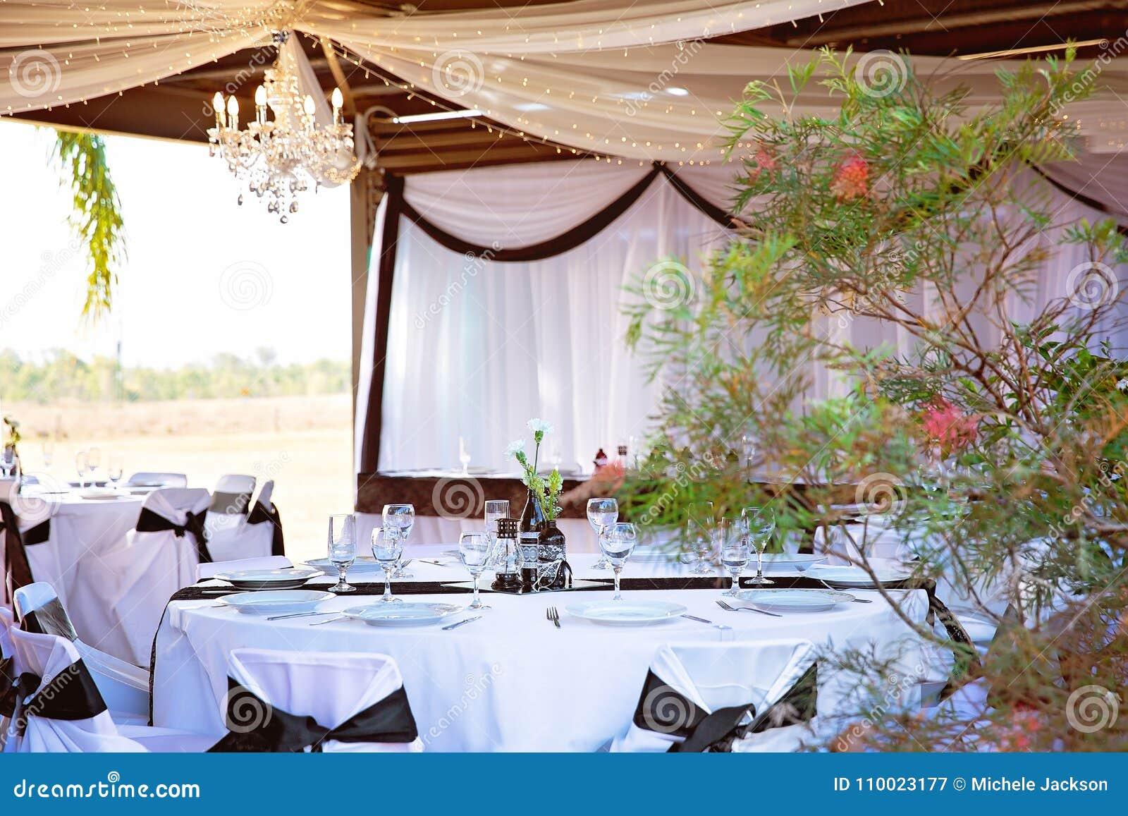 Wedding Reception Decor And Set Up Stock Image Image Of Reception
