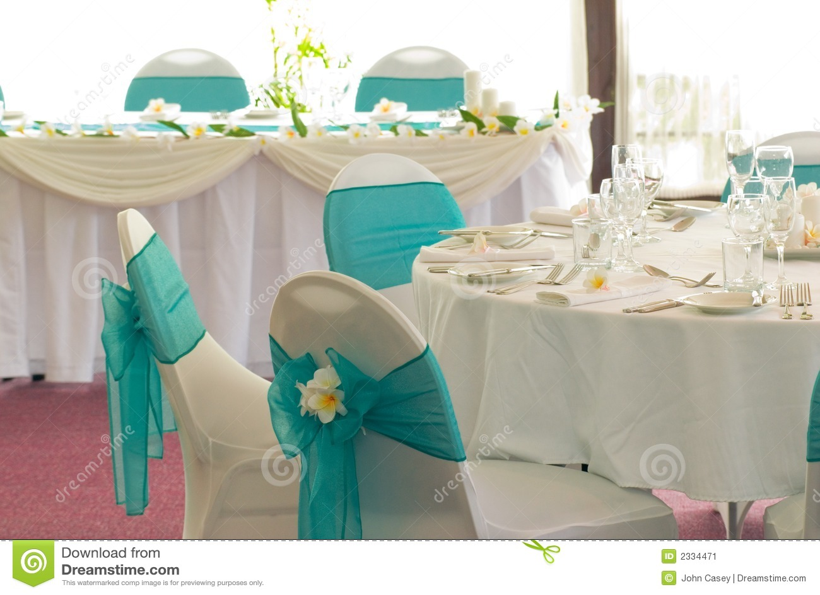 Wedding Reception Display Stock Image Image Of Glasses 2334471