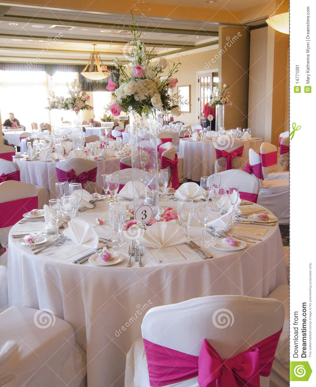 Wedding Banquet: Wedding Reception Party Venue Stock Image