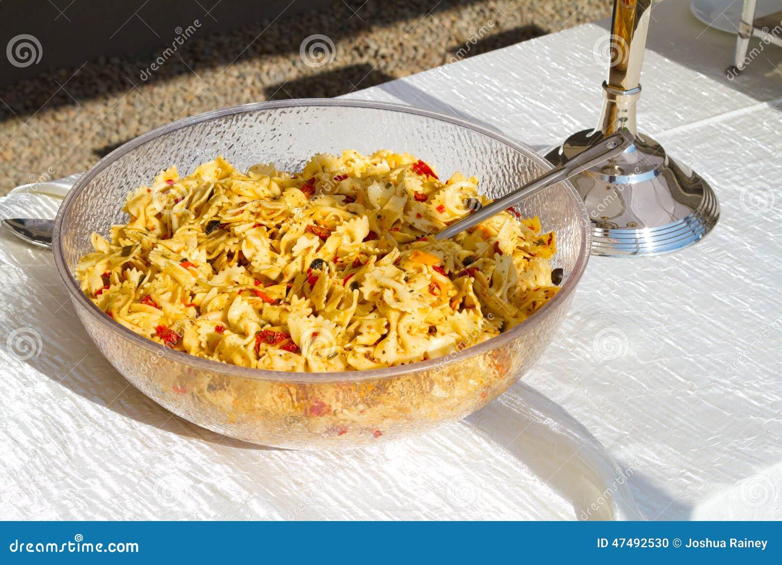 Wedding Reception Pasta Salad Stock Photo Image Of Food Lunch