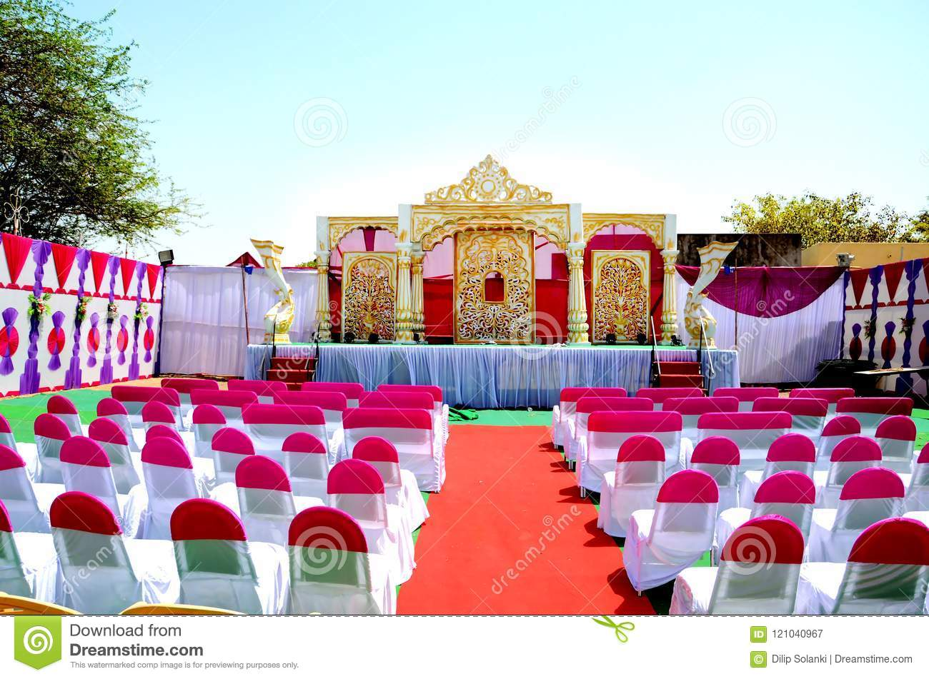 Wedding Reception Stage Decoration Stock Image Image Of India