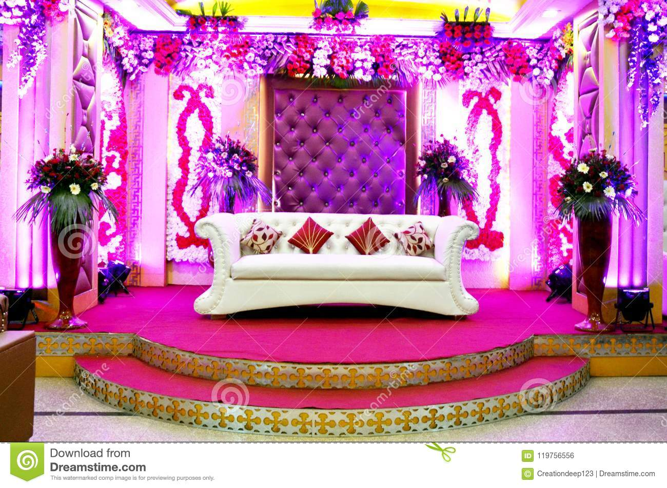 Wedding Reception Stage Stock Photo Image Of Fresh Background
