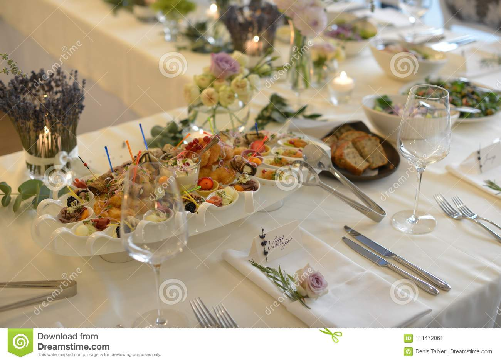Wedding Reception Table Stock Image Image Of Napkin 111472061
