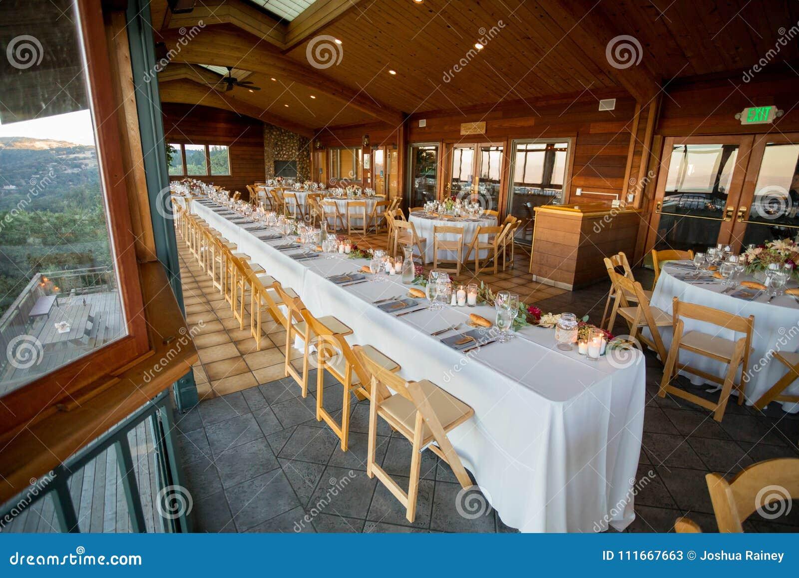 Wedding Reception Table At Winery Wedding Stock Image - Image of ...