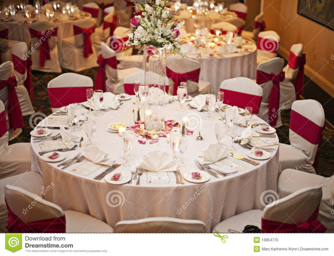 Wedding Receptions Tables.Wedding Reception Tables Stock Image Image Of Arrangements 13854775