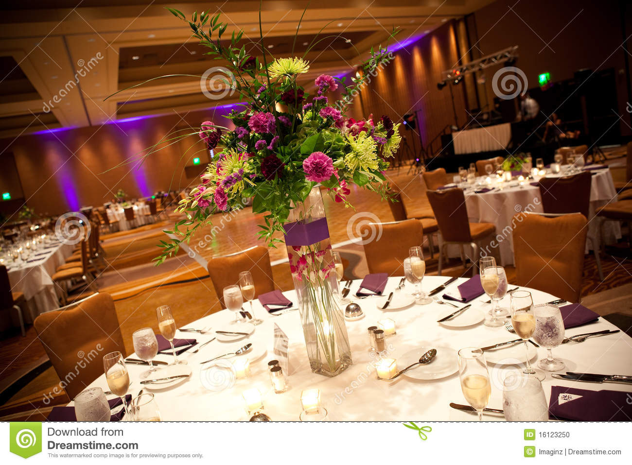 Wedding Reception Tables Stock Photo Image 16123250