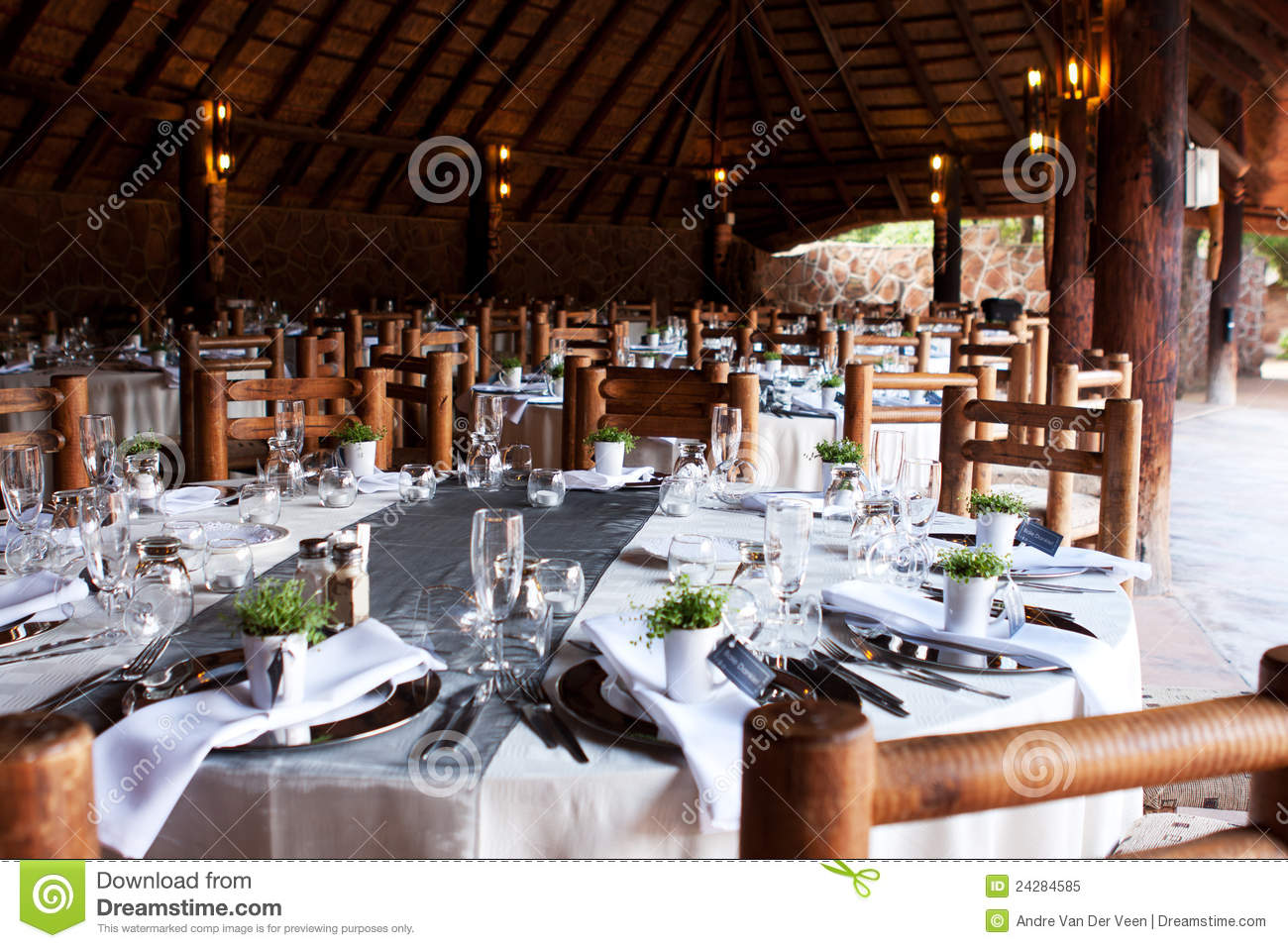 wedding reception tables and decor stock image image