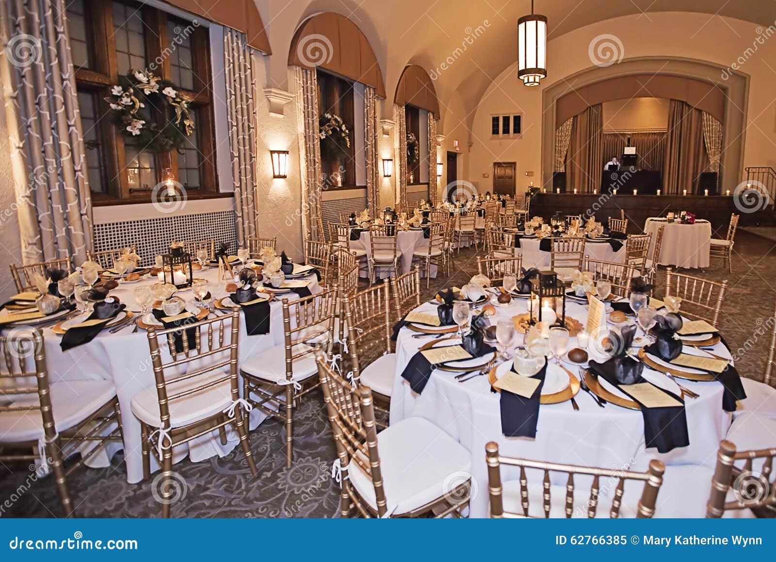Wedding Reception Venue At Night Stock Image Image Of Luxury