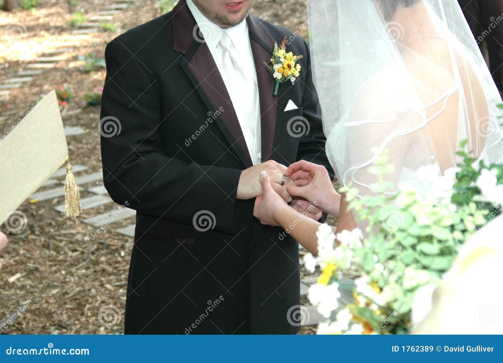 Wedding Ring Ceremony Royalty Free Stock Images Image 1762389