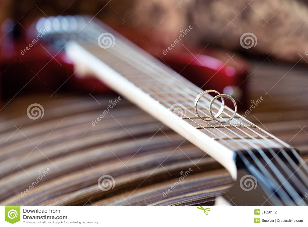 wedding ring close up on electric guitar strings stock photo image of up abstract 31620172. Black Bedroom Furniture Sets. Home Design Ideas