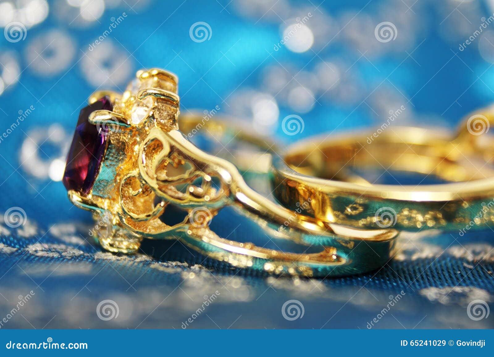 Wedding Ring Closeup Stock Photo Image 65241029