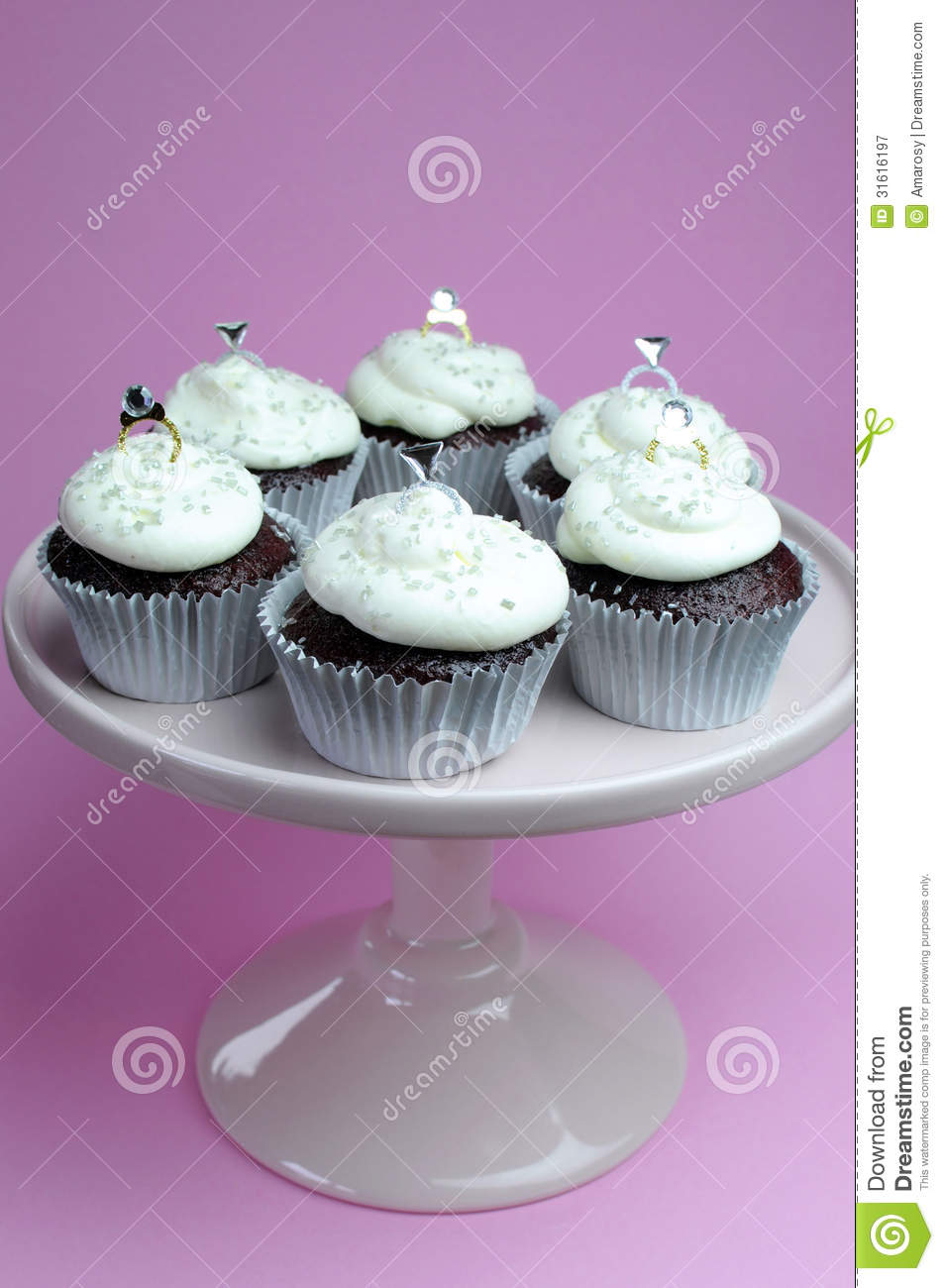 Wedding Ring Cupcakes Stock Image Image Of Just Diamond