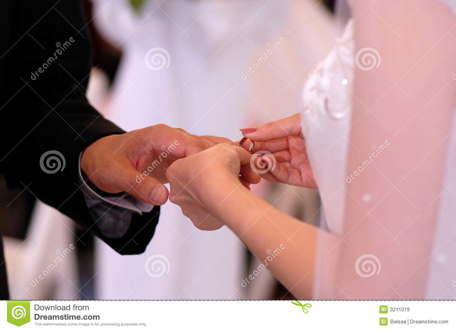 Wedding Ring Exchange stock image. Image of ceremony, diamond - 3211019