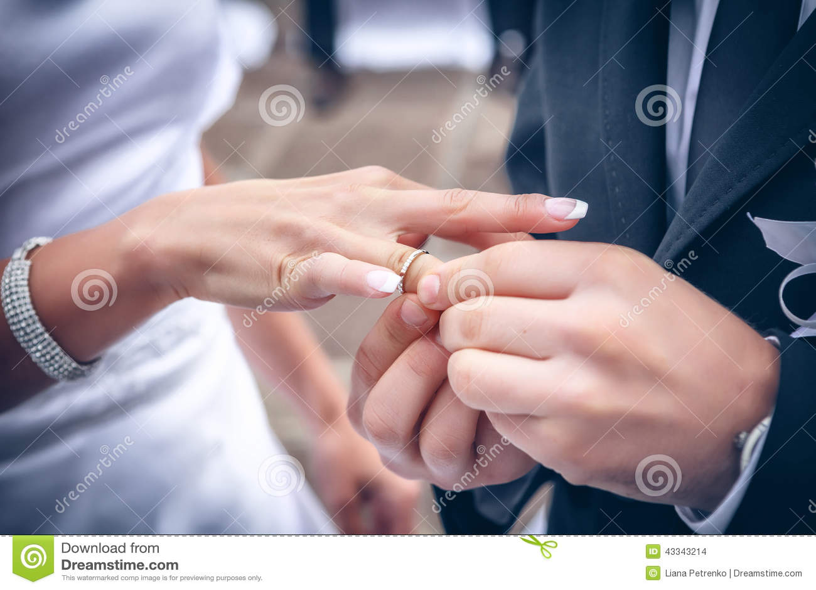 Wedding ring exchange stock photo. Image of wife, ring - 43343214