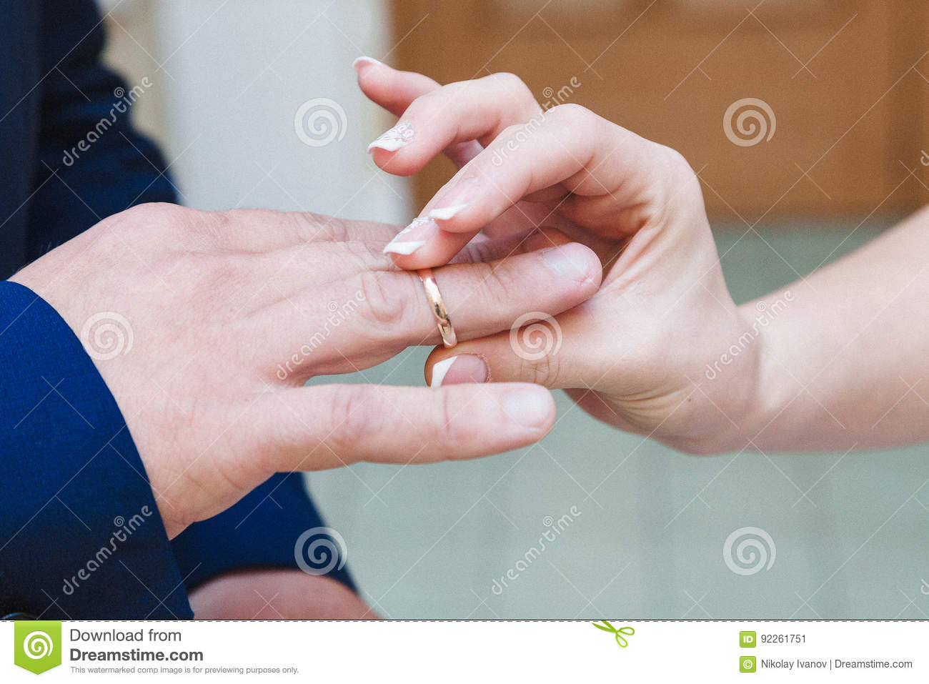 Wedding Ring Exchange Stock Image Image Of Fingers Excite 92261751