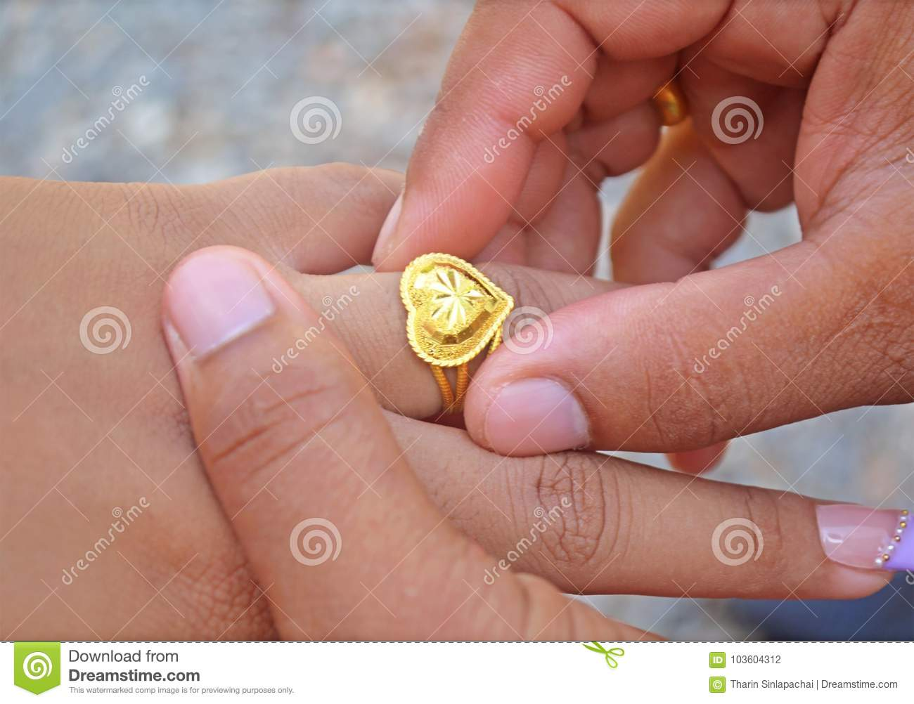 Wedding ring stock photo. Image of people, country, countryside ...