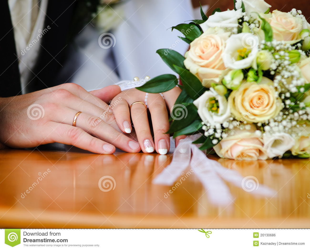 Wedding Ring and hands stock photo Image of marriage 20130686