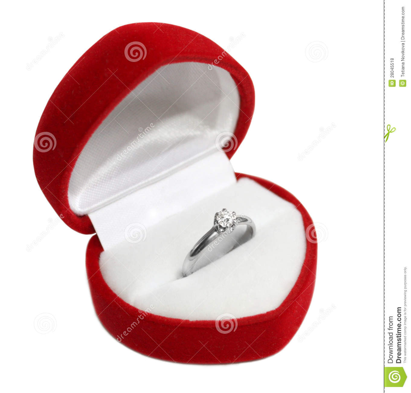 Wedding ring in heart shaped box royalty free stock photos for Heart shaped engagement ring box