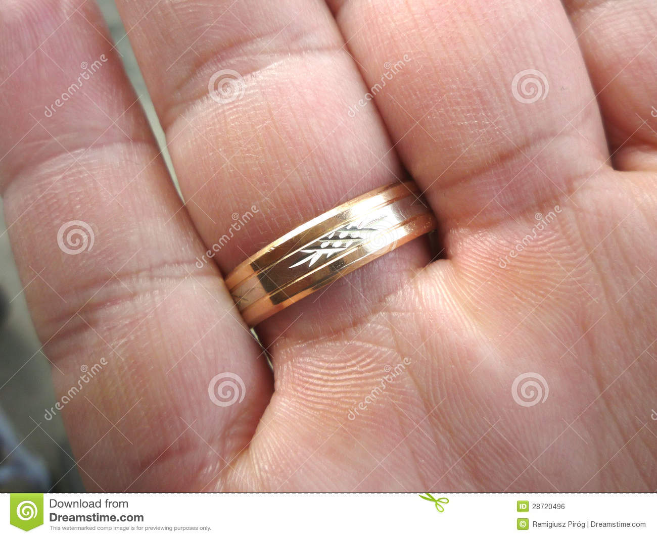 Wedding ring on his finger stock photo. Image of marriage - 28720496