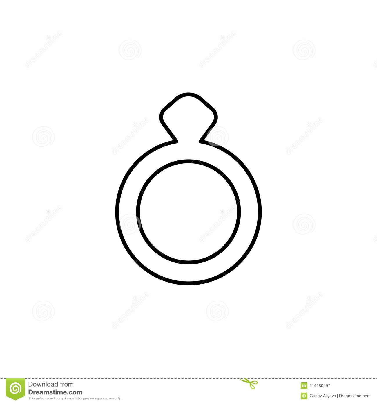 wedding ring icon. element of simple icon for websites, web design