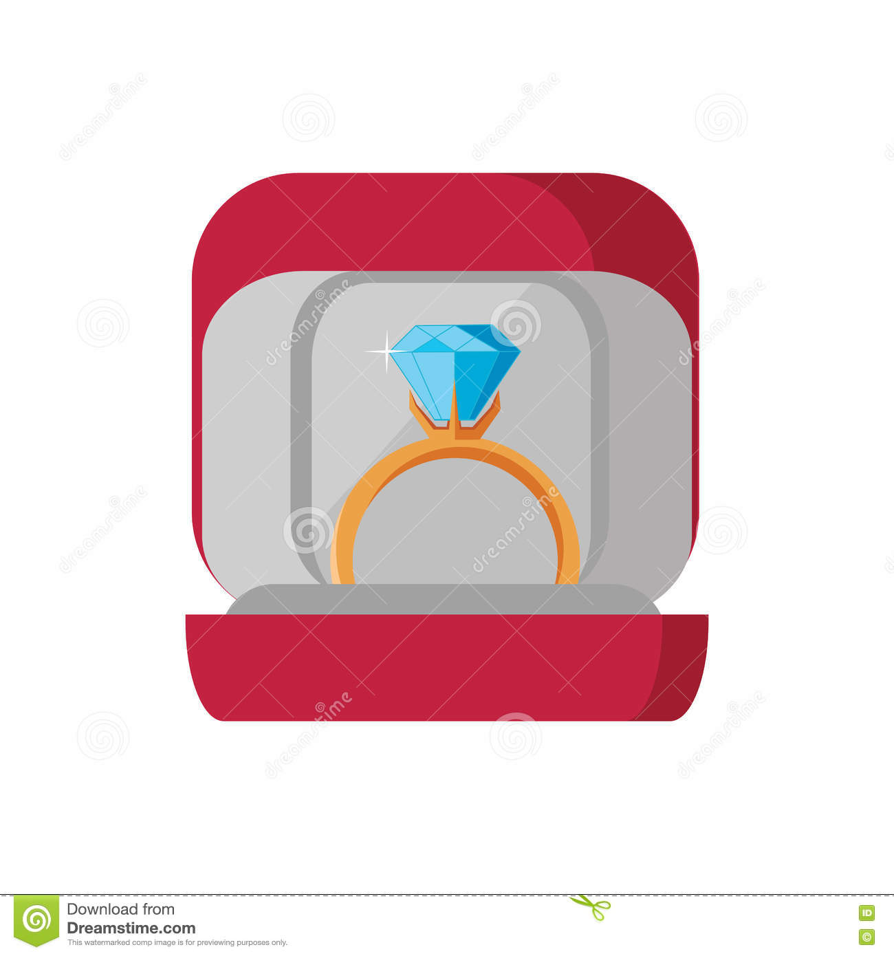 Wedding Ring Icon Stock Vector Illustration Of Isolated 71179351