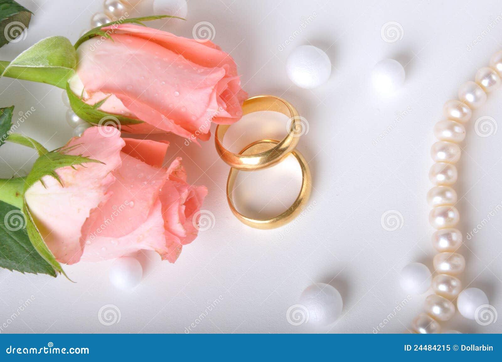 Wedding Ring Amp Rose Royalty Free Stock Photo