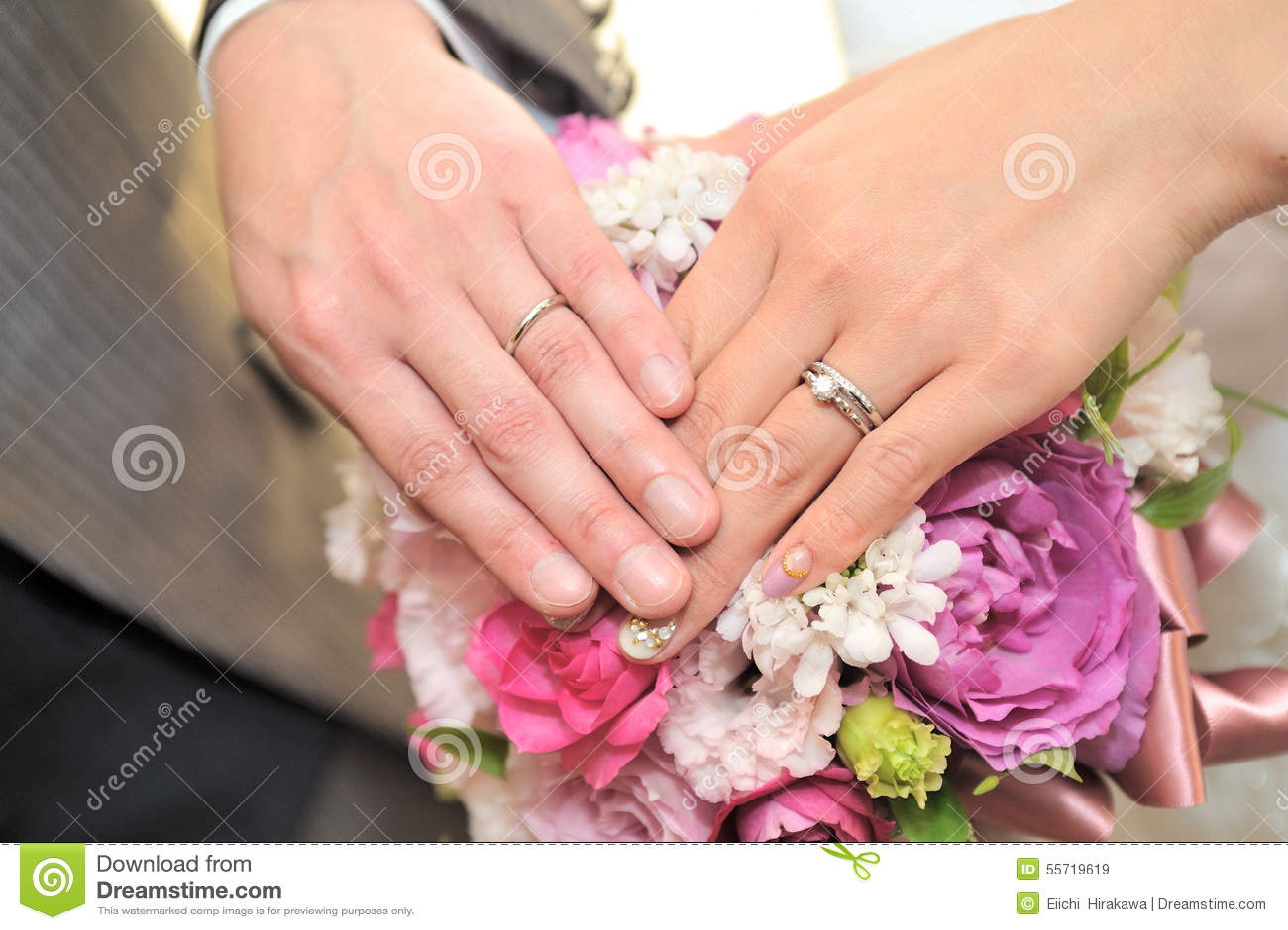 Wedding ring stock image. Image of arranged, bouquet - 55719619