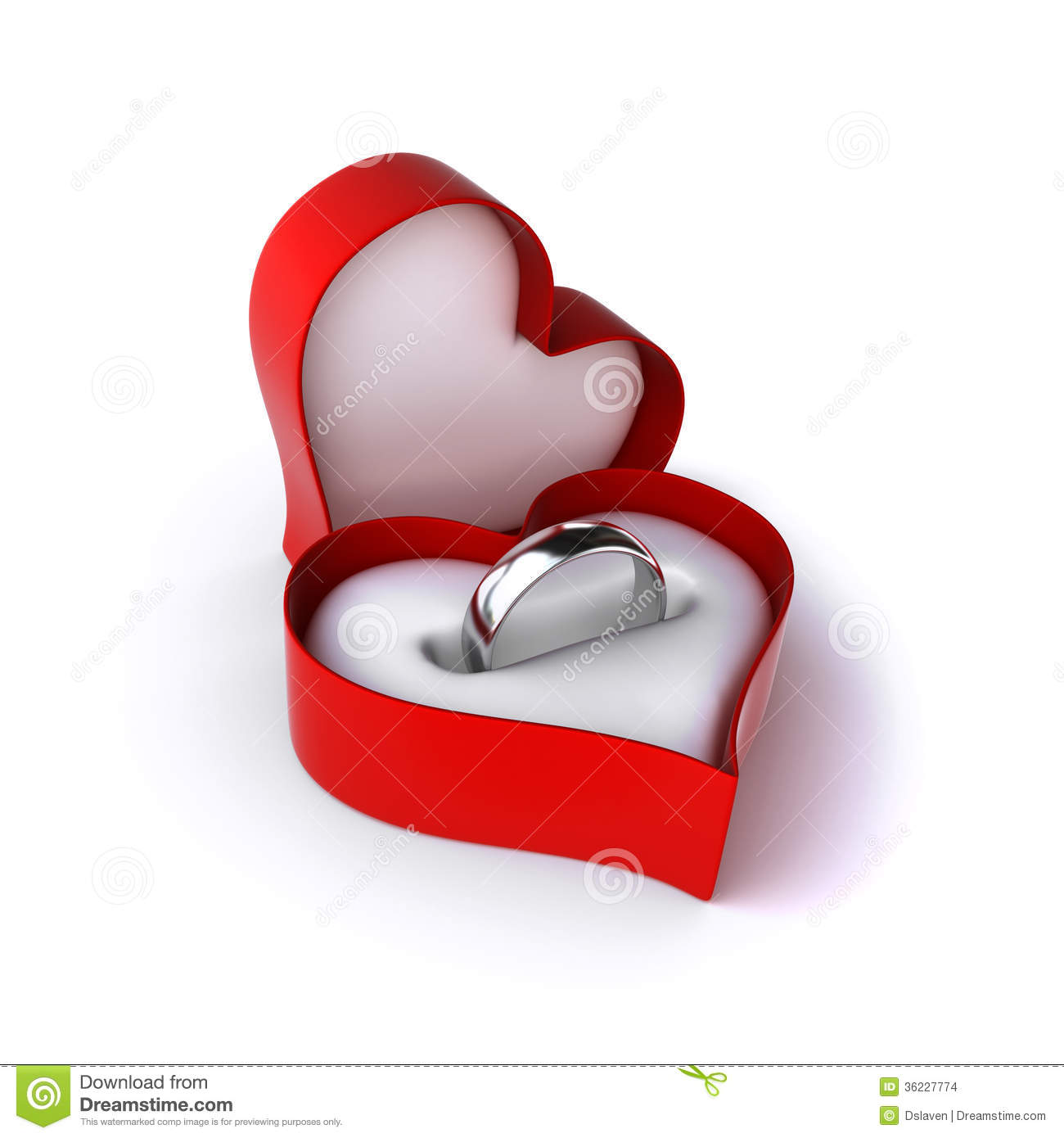 Wedding ring stock images image 36227774 for Heart shaped engagement ring box