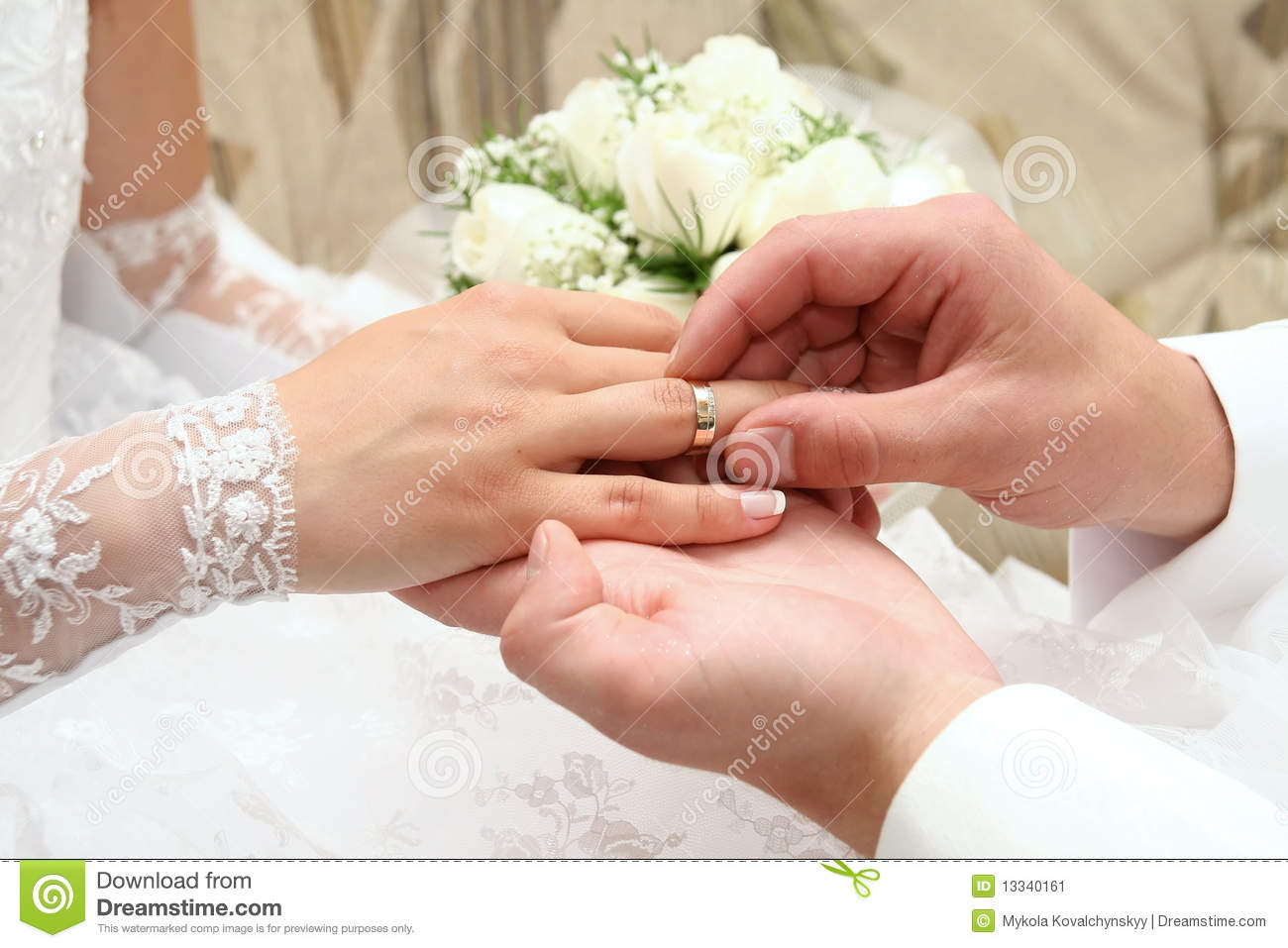 Wedding rings stock image Image of marry close evening 13340161