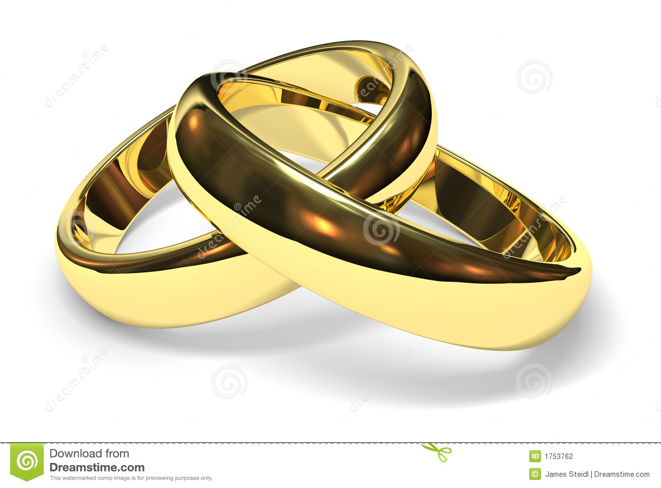 Wedding rings stock photo Image of isolated white unite 1753762