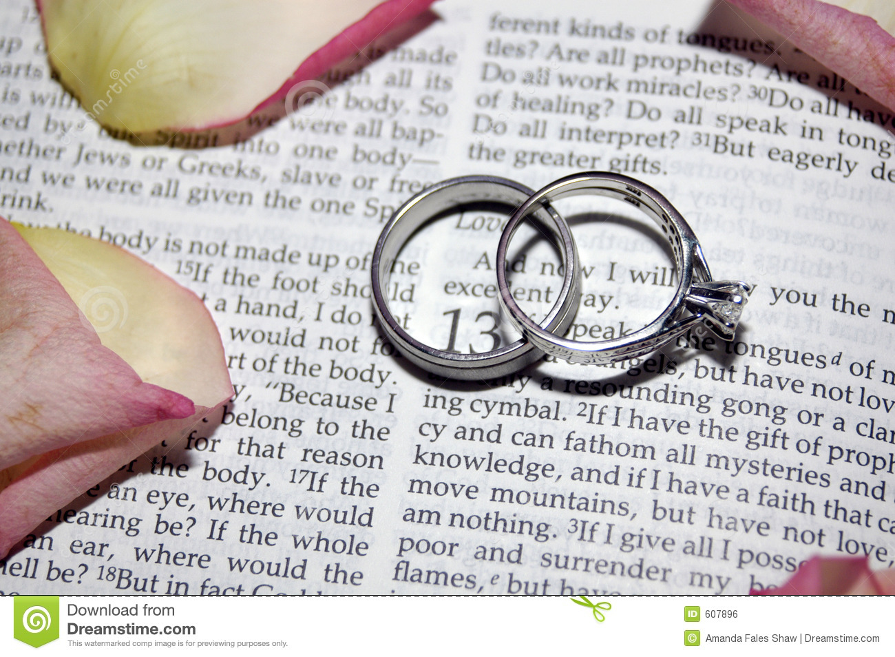 Wedding rings stock photo Image of words patient rings 607896