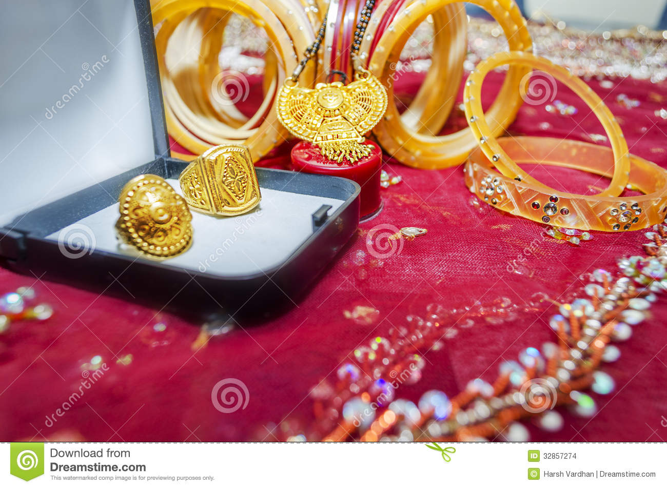 wedding rings and accessories stock images - Indian Wedding Rings