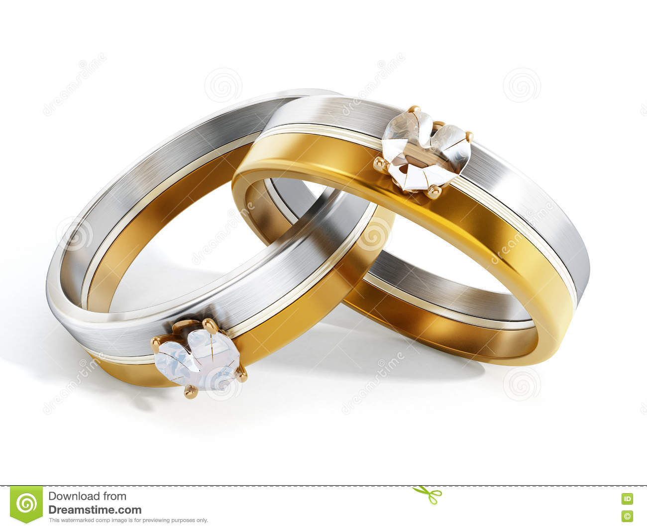 Wedding Rings Together And Forever Stock Photo