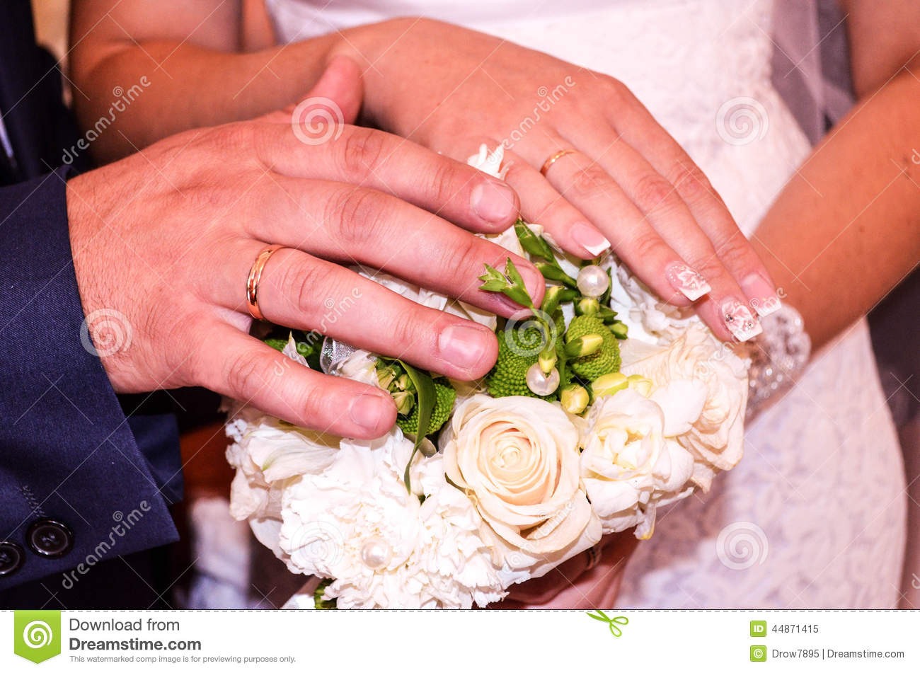 Wedding rings stock image. Image of white, bride, невеста - 44871415
